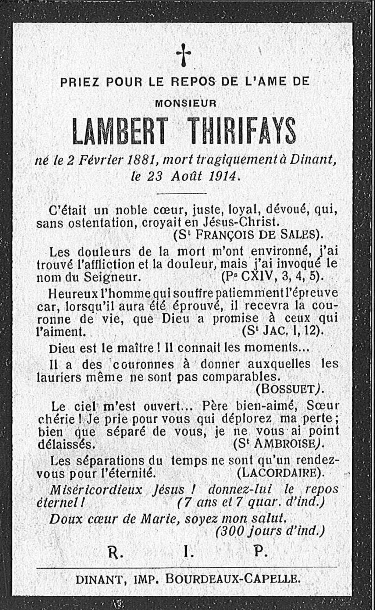 Lambert Thirifays