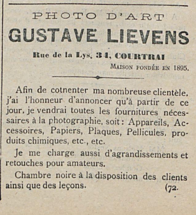 GUSTAVE LIEVENS