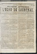 L'echo De Courtrai 1873-01-16