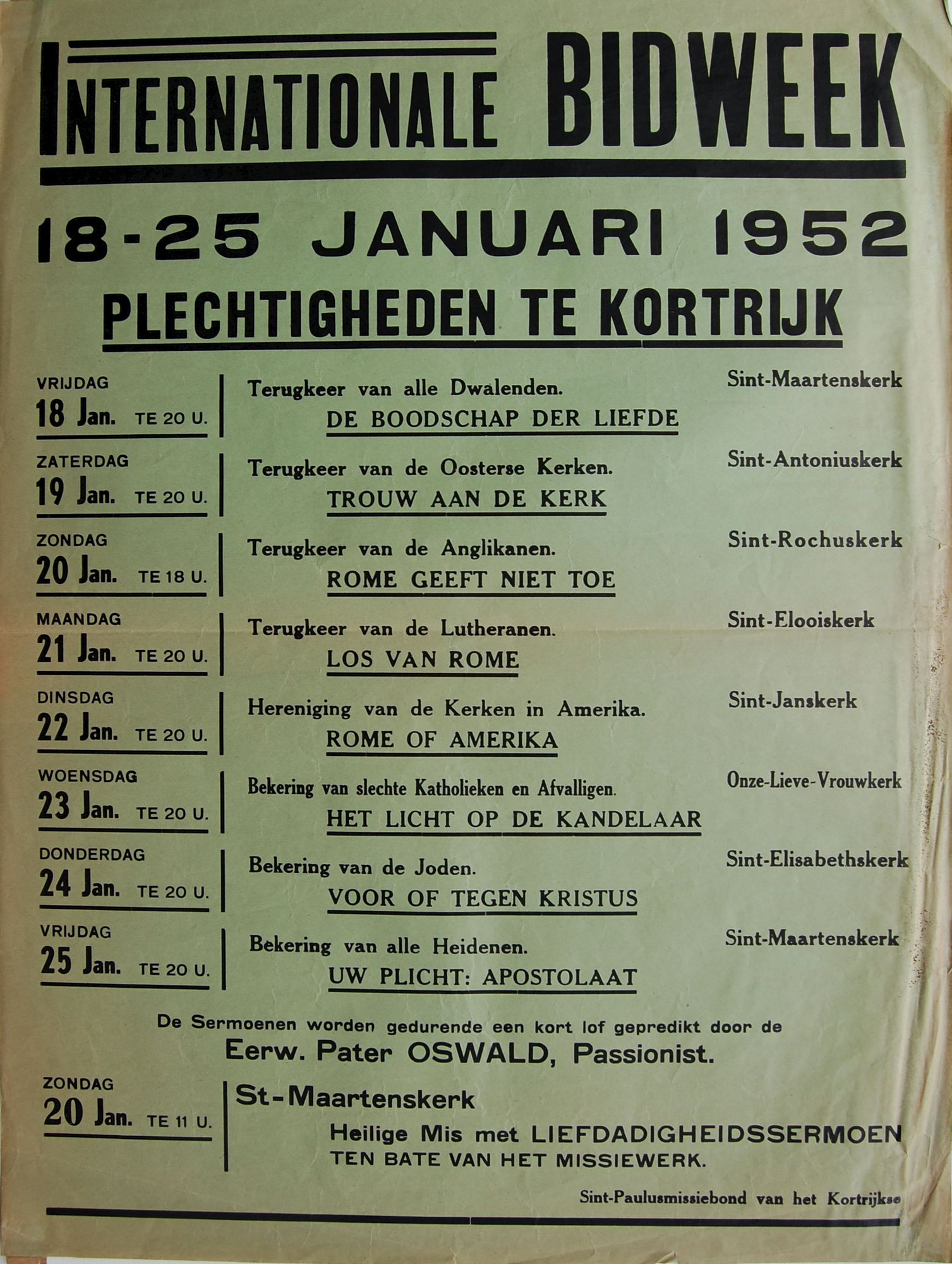 Bidweek 1952