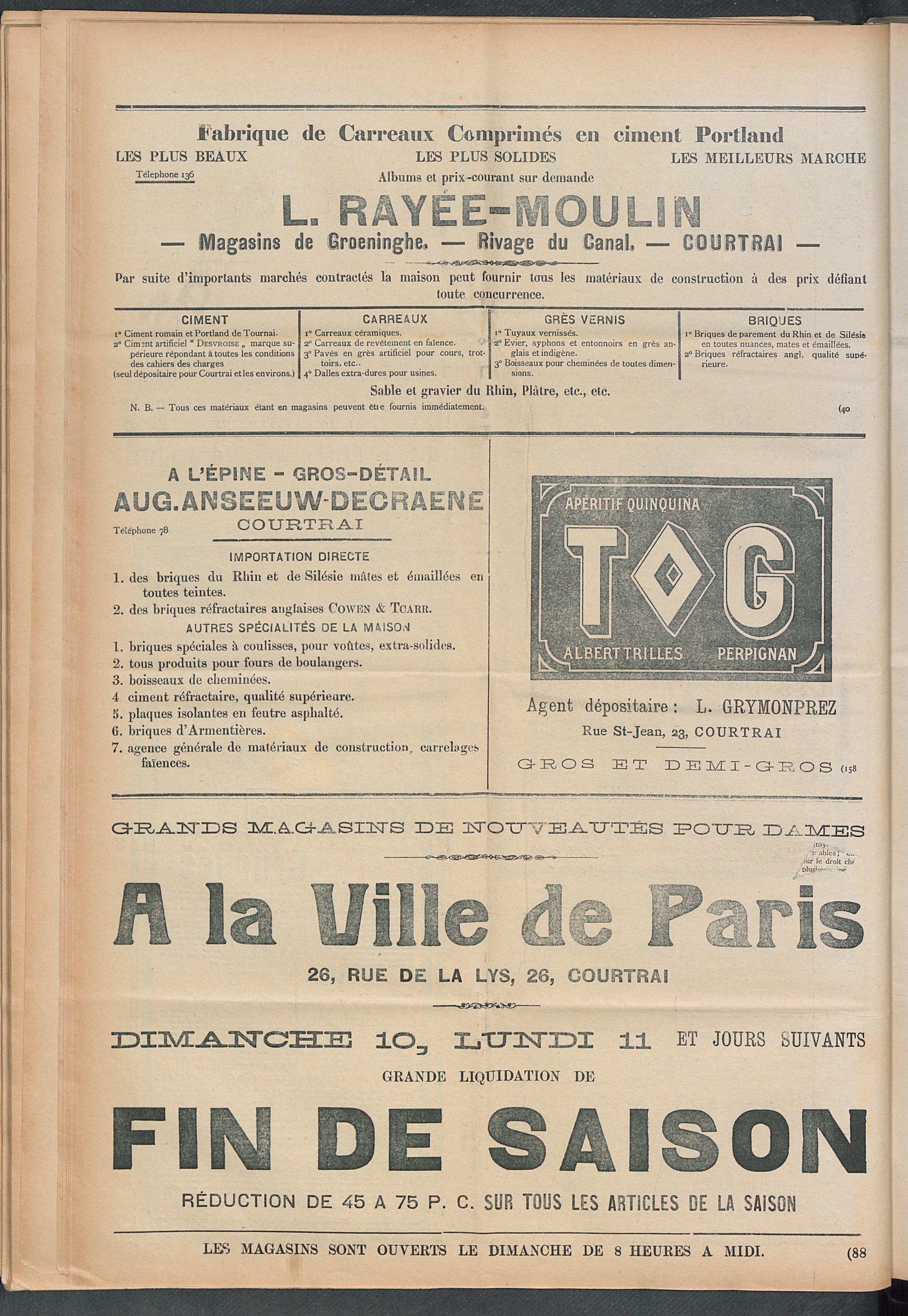 L'echo De Courtrai 1910-07-10 p6
