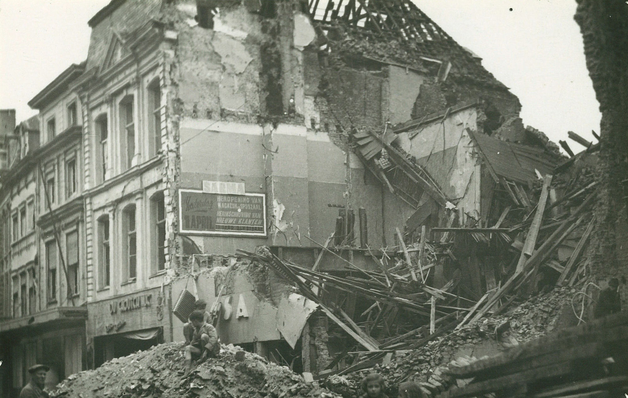Sarma in de Leiestraat in 1944
