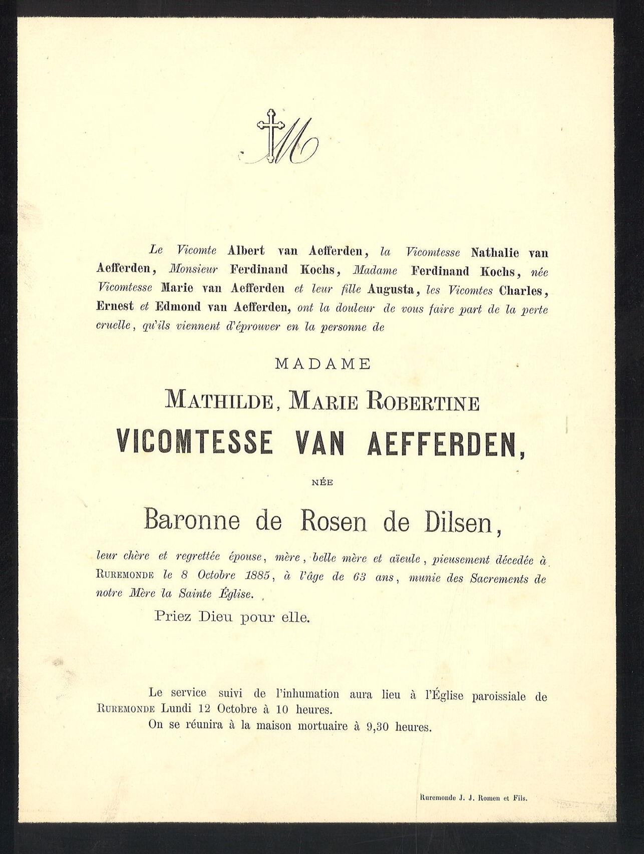 Mathilde Marie Robertine de Rosen de Dilsen