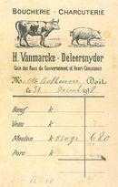 Reclame slagerij 1918
