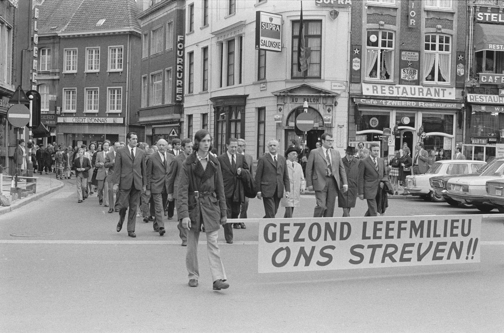 Manifestatie op de Grote Markt
