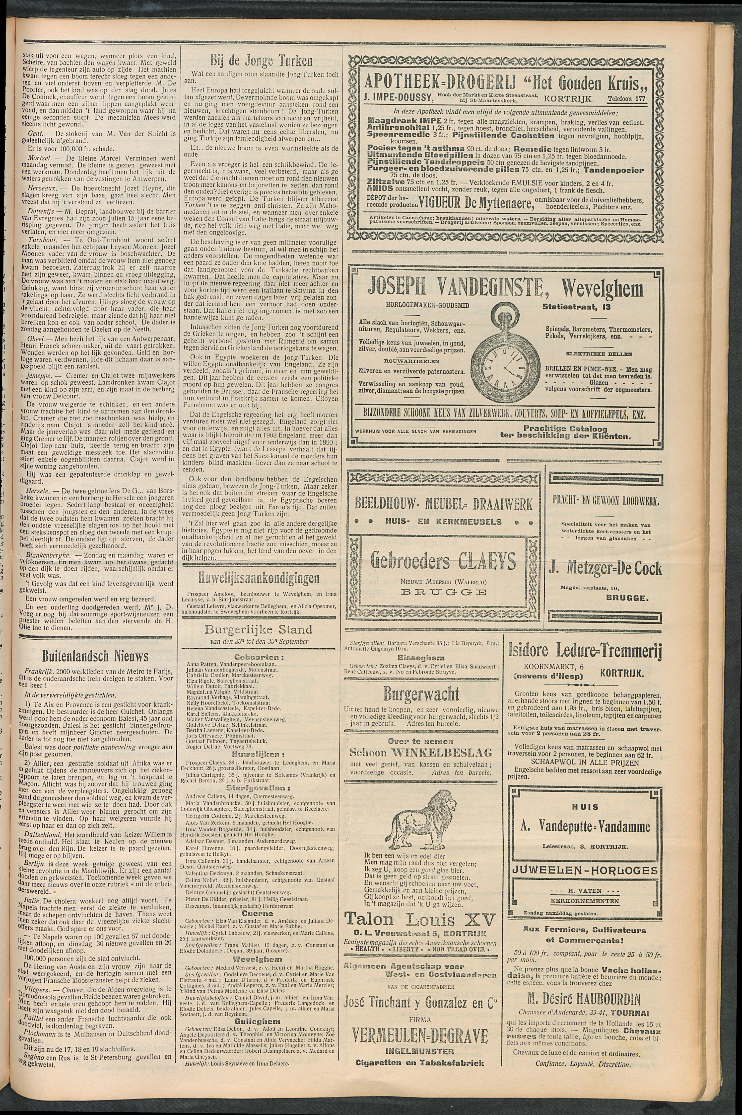 Het Kortrijksche Volk 1910-10-02 p3