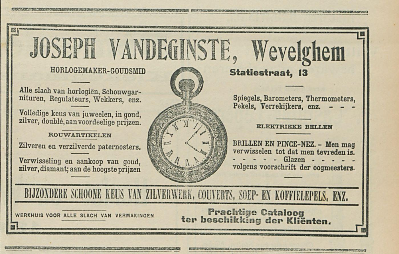 JOSEPH VANDEGINSTE Wevelghem