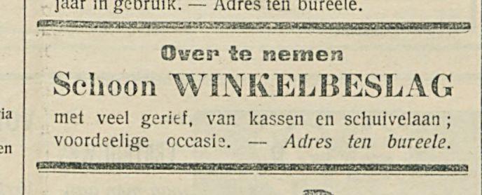 Schoon WINKELBESLAG