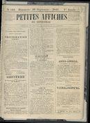 Petites Affiches De Courtrai 1841-09-26