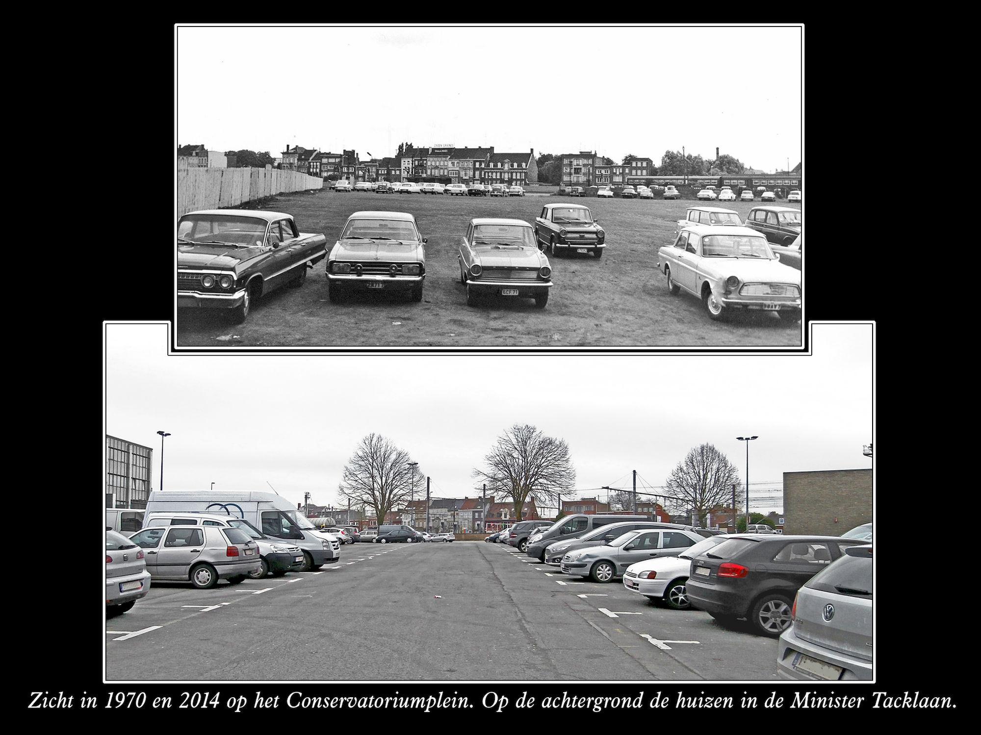 Conservatoriumplein 1970 en 2014