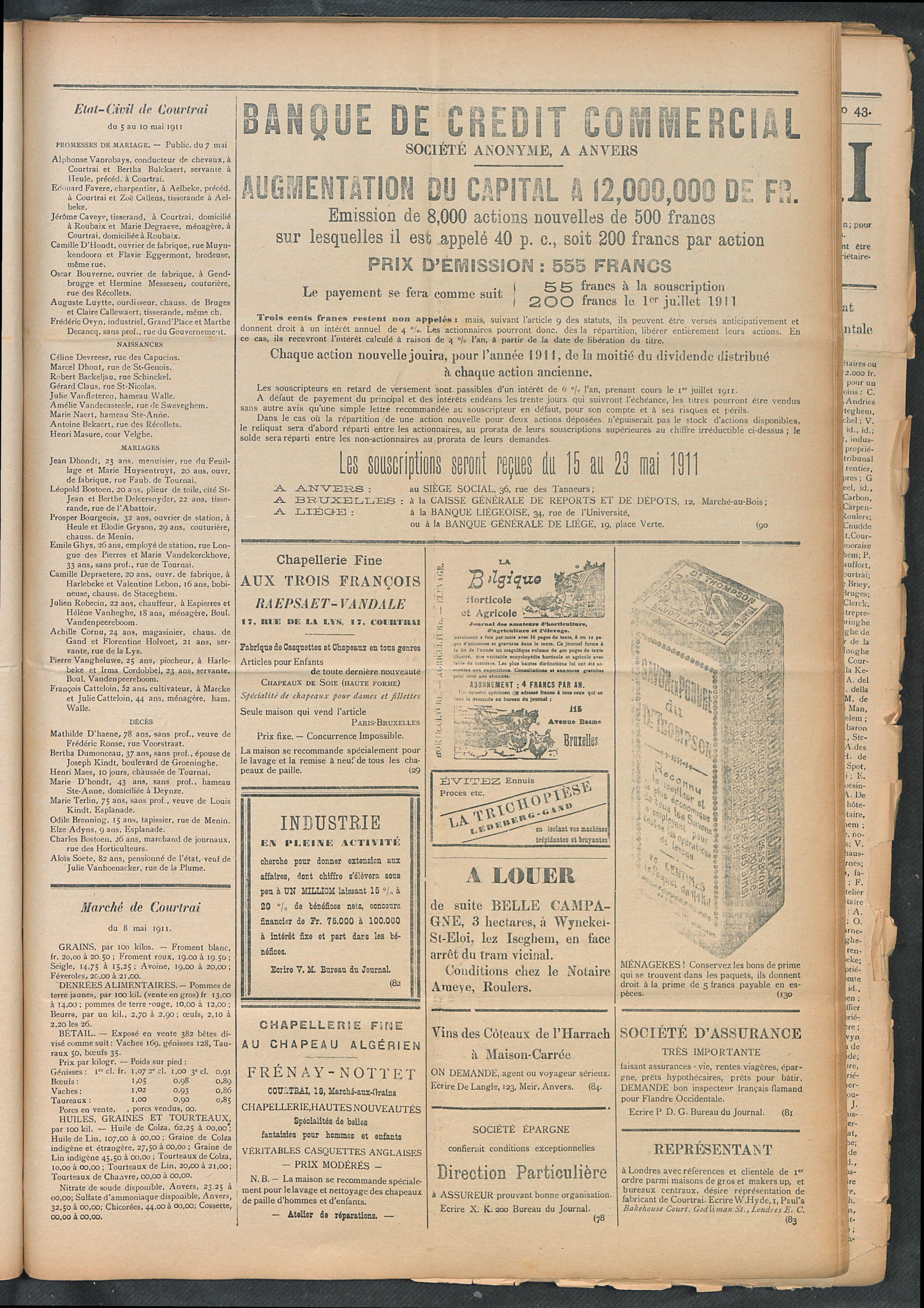 L'echo De Courtrai 1911-05-11 p3
