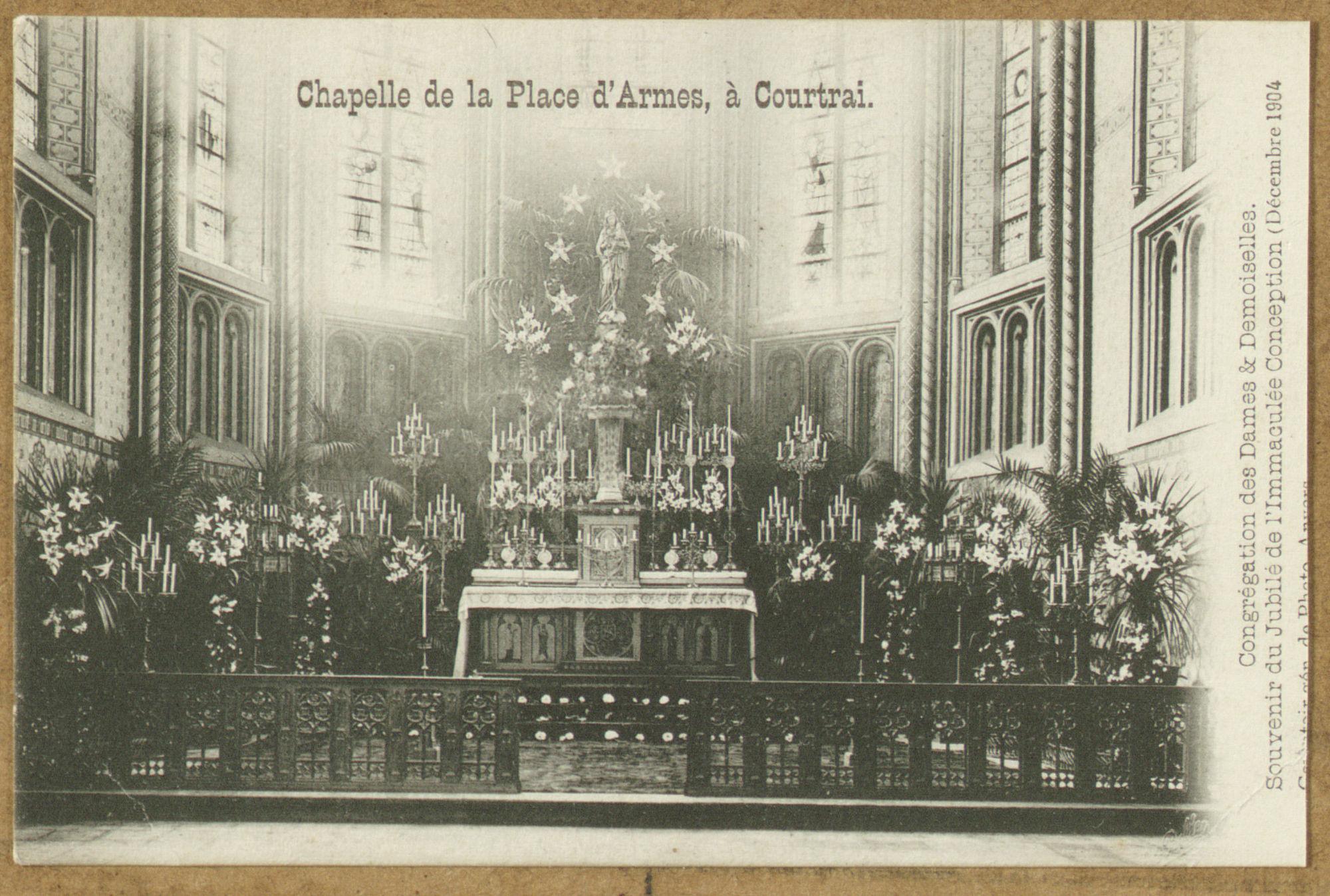 Interieur van de Kapel van de Wapenplaats (huidige President Rooseveltplein)