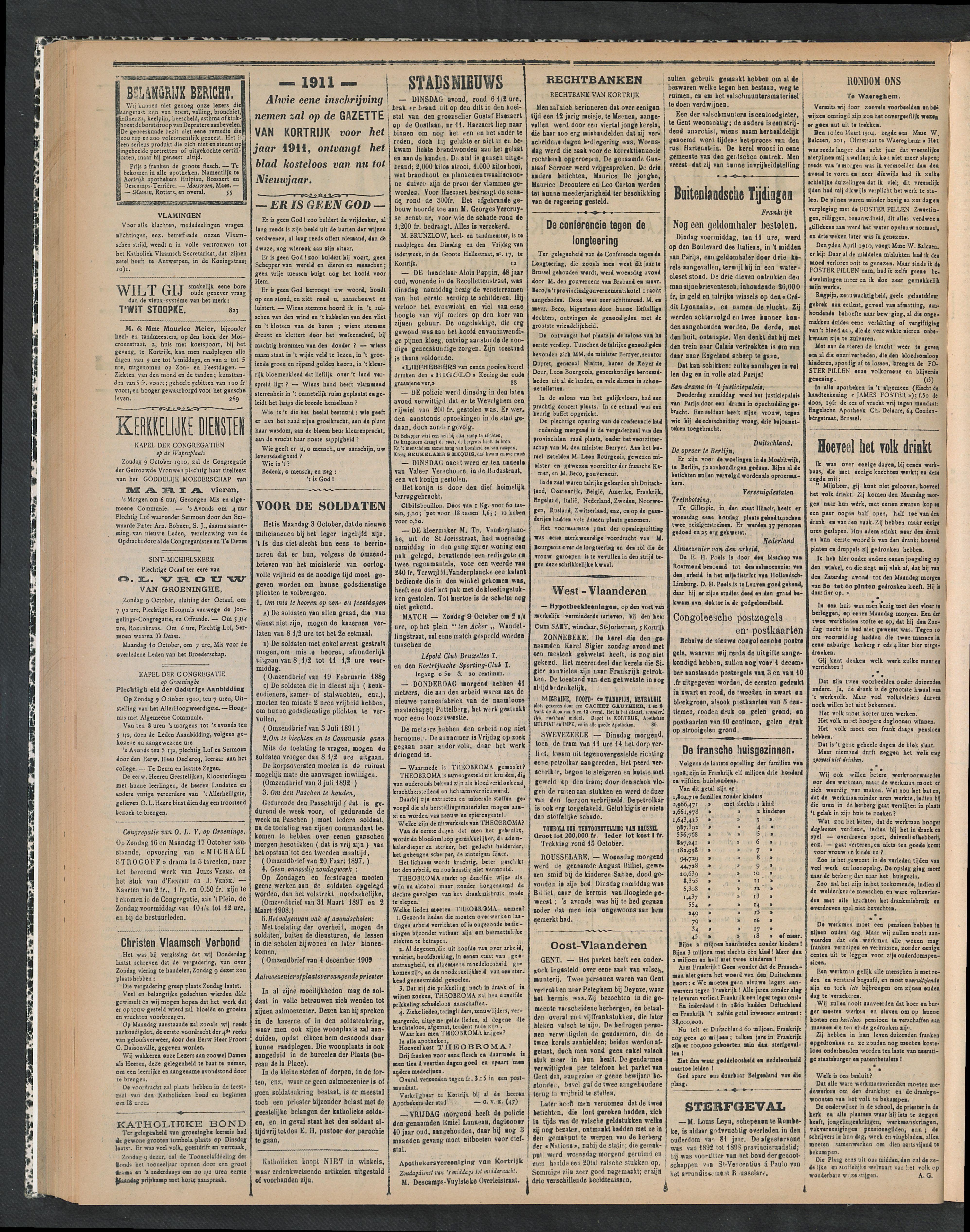 Gazette Van Kortrijk 1910-10-09 p2