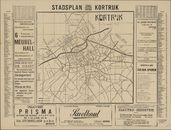 Plattegrond van de stad Kortrijk, 1955