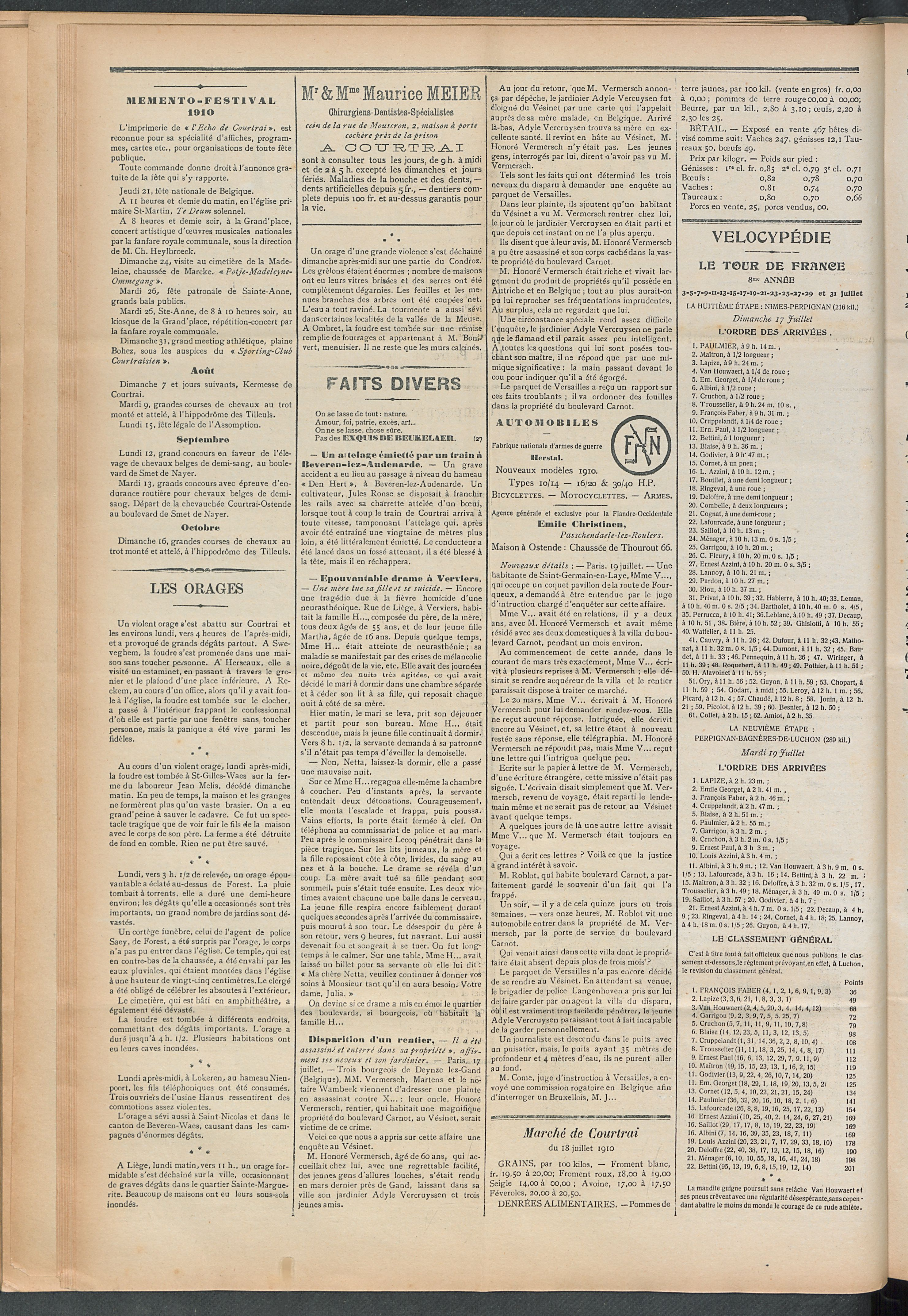 L'echo De Courtrai 1910-07-21 p2