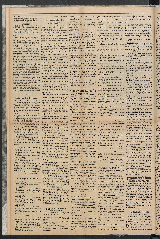 Het Kortrijksche Volk 1922-11-05 p2