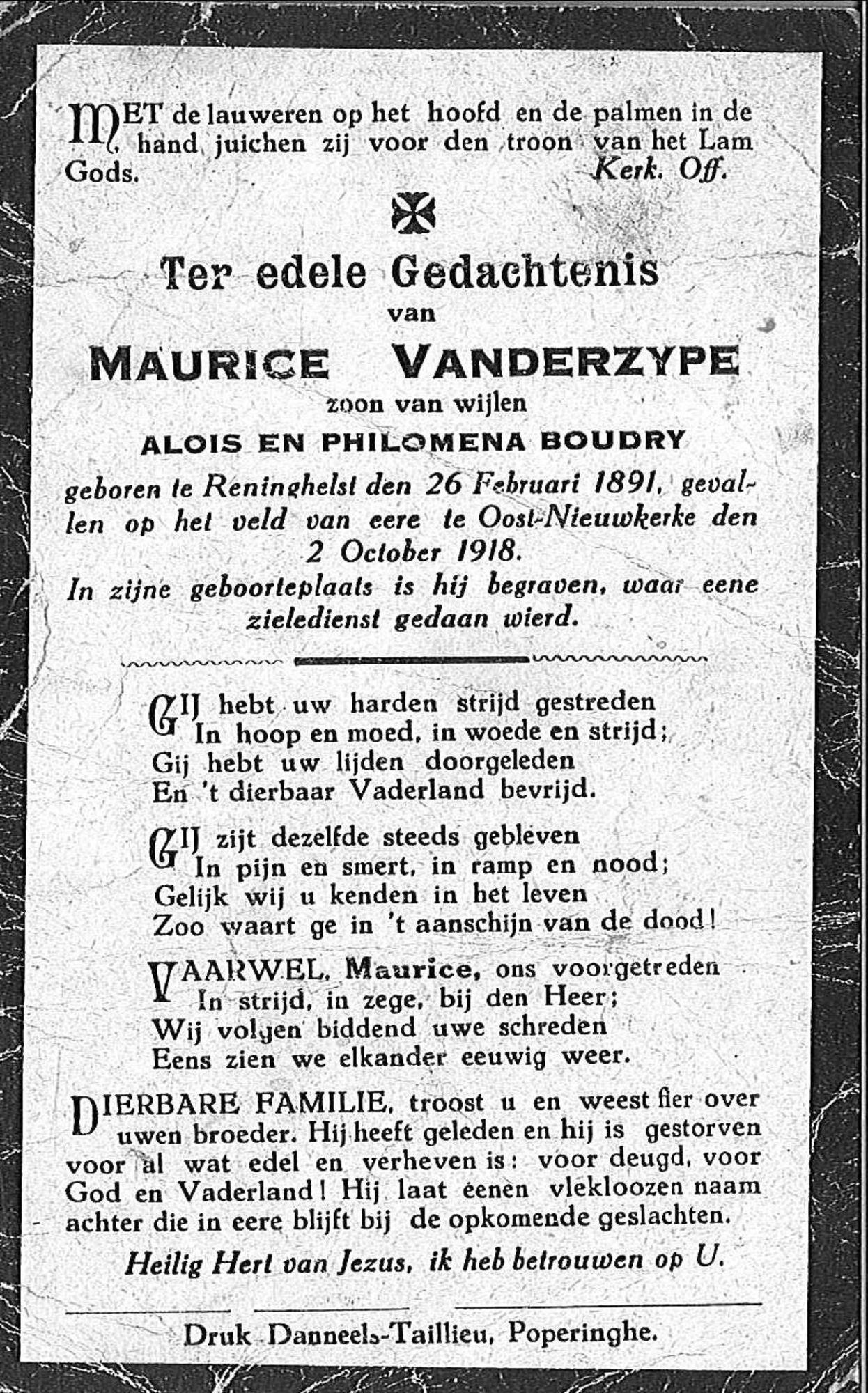 Maurice Vanderzype