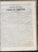 L'echo De Courtrai 1866-09-07