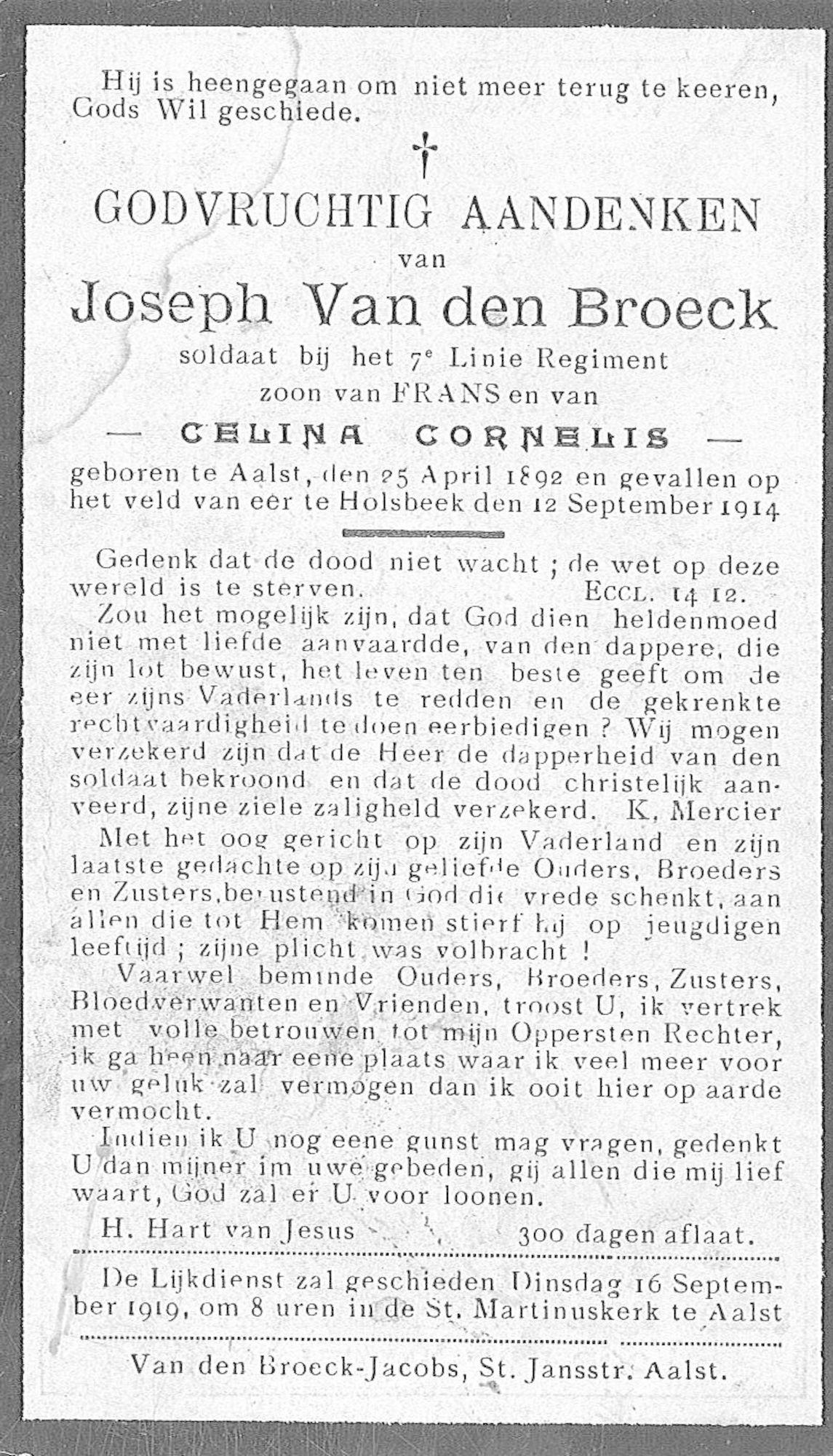 Van den Broeck Joseph