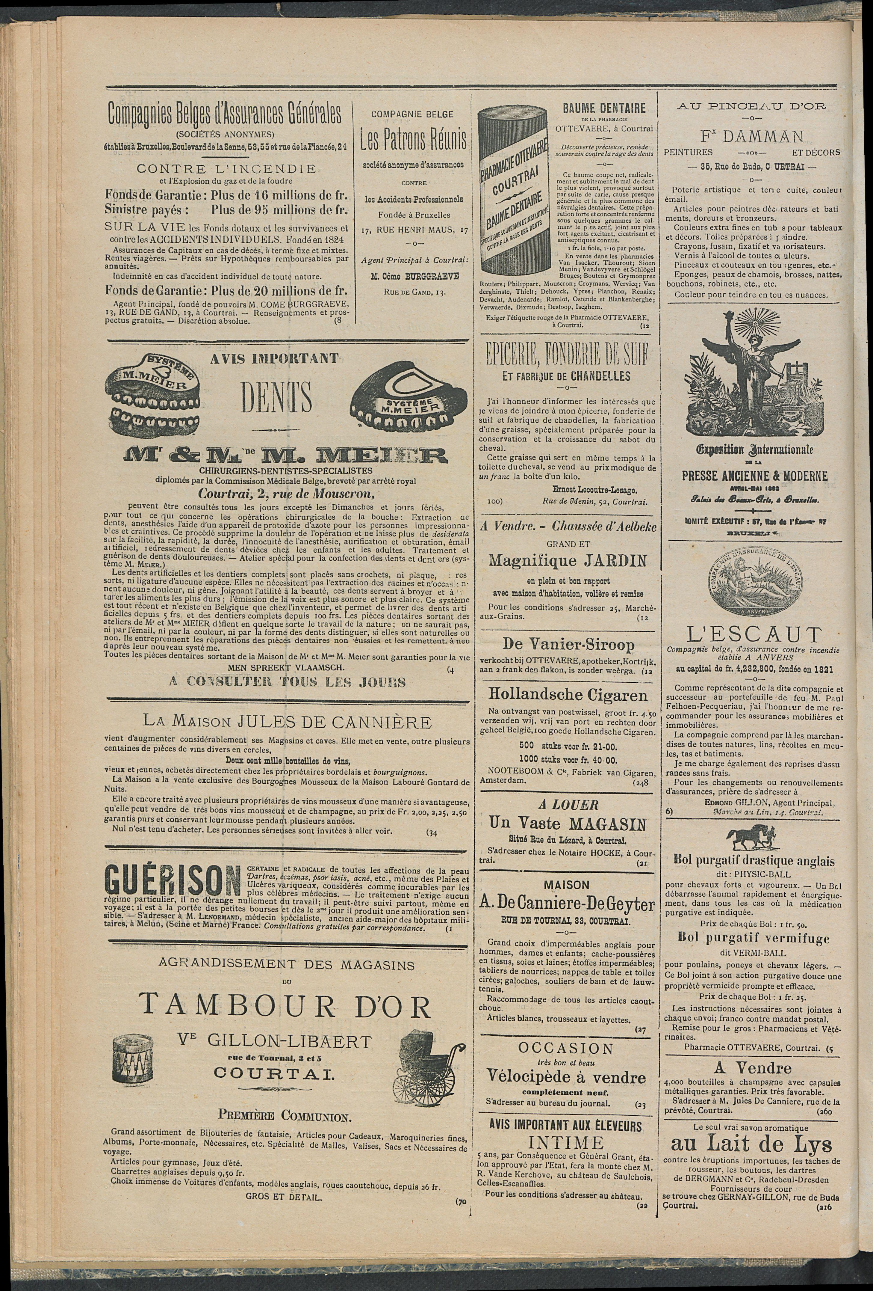 L'echo De Courtrai 1893-03-02 p4