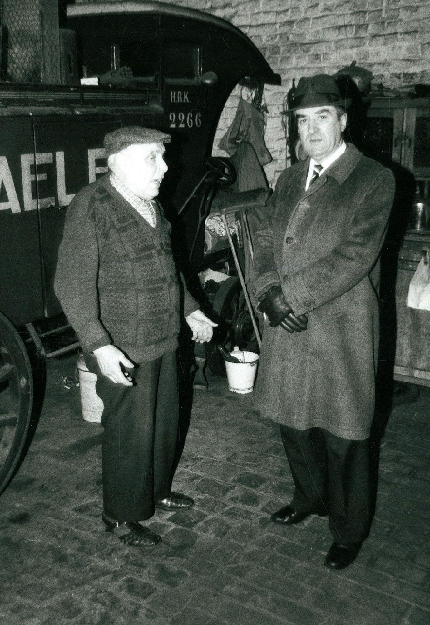 Biervoerder Georges Dewaele met Paul Debrabandere