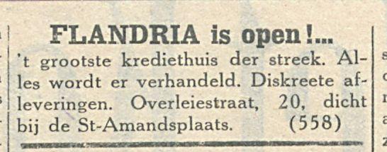 FLANDRIA is open