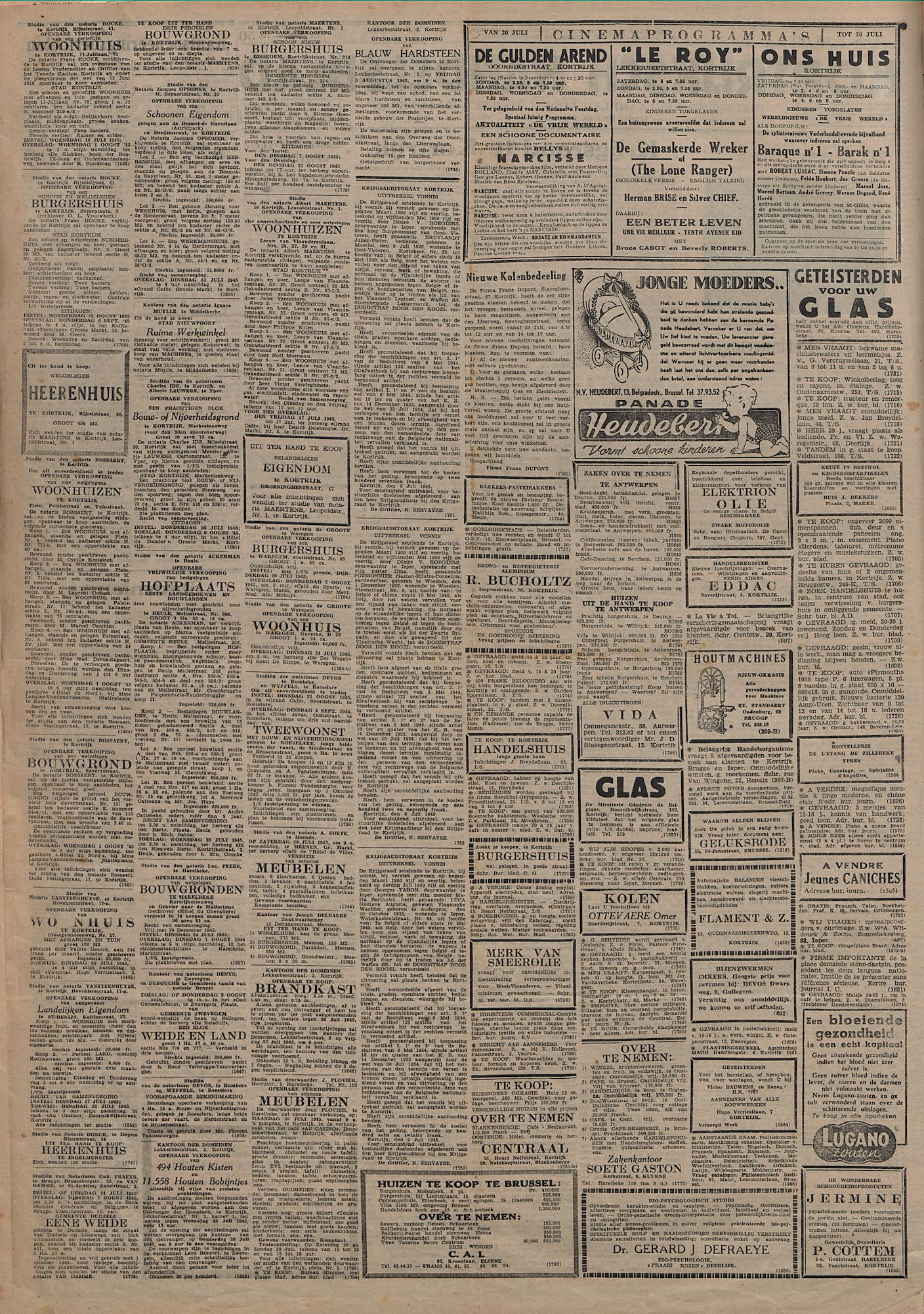 Kortrijksch Handelsblad 21 juli 1945 Nr58 p2
