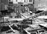 Bouw van de politiekantoren in de Oude-Vestingsstraat 1965