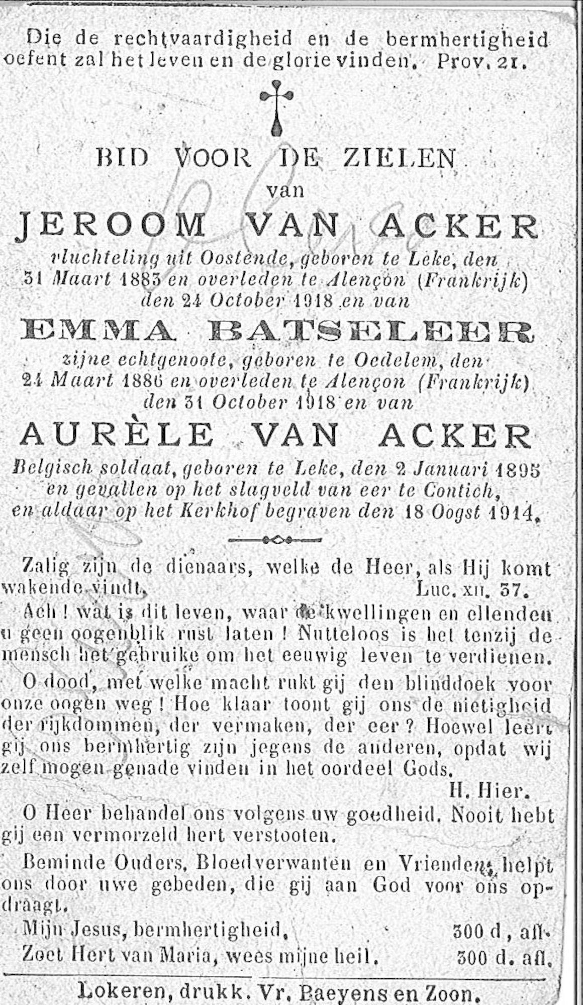 Jeroom Van Acker en Aurèle Van Acker