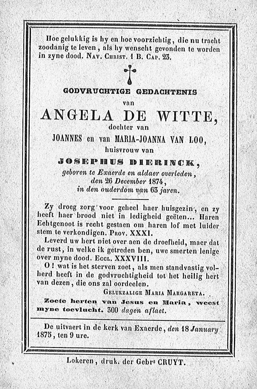 Angela De Witte