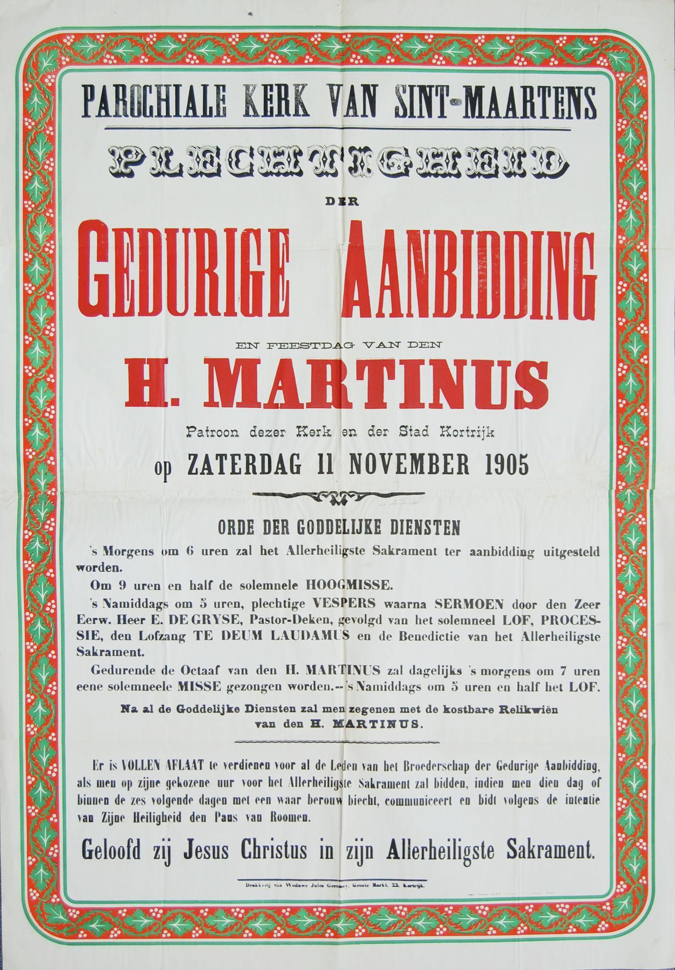 Plechtigheid Sint-Maartenskerk in 1905