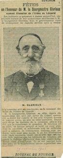 Dhr. Glorieux, burgemeester van Kooigem 1906