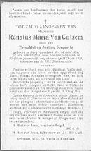 Van Cutsem Renatus-Maria
