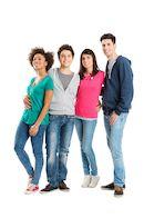 Vier jongeren