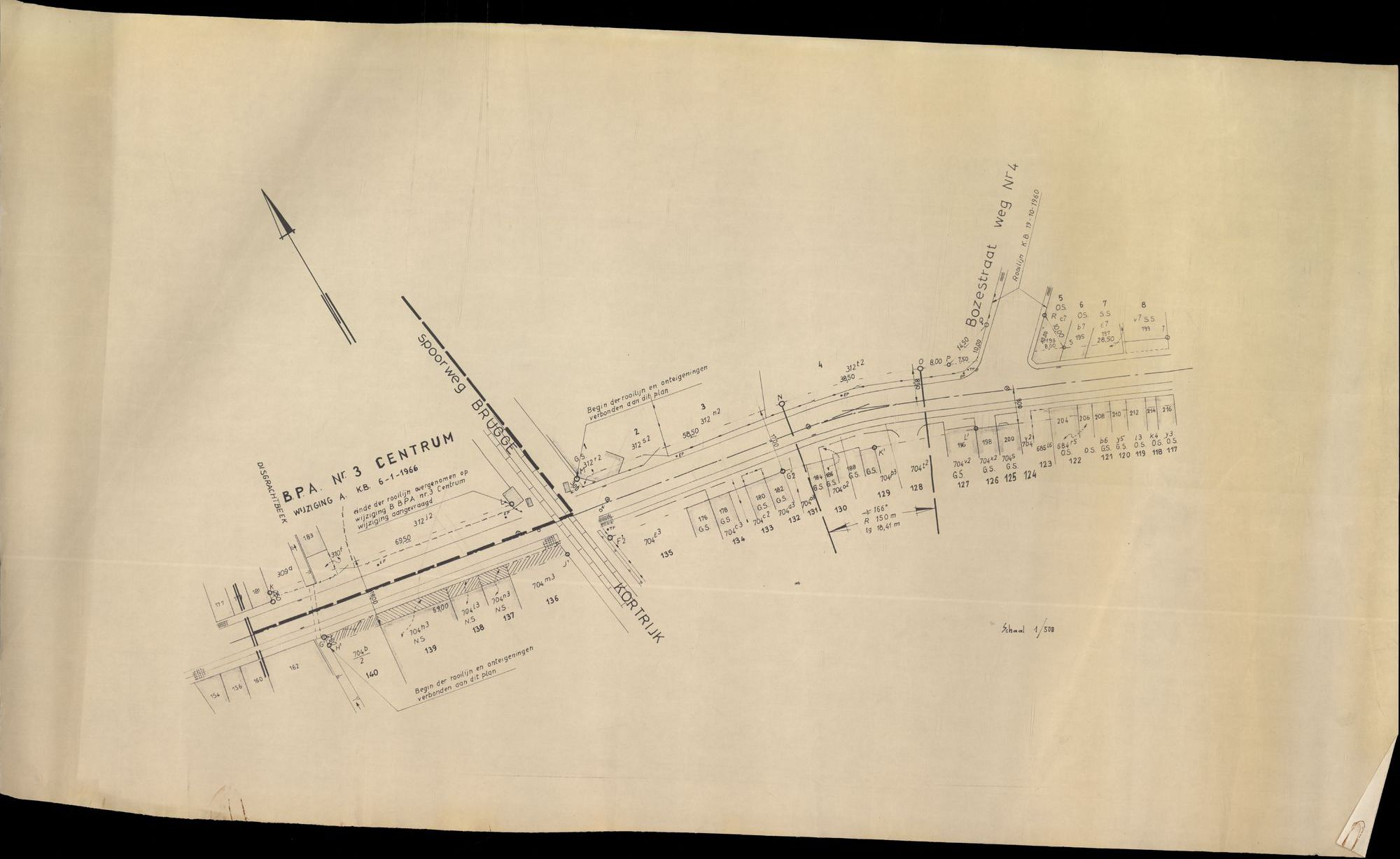 Plan B.P.A. nr. 3, centrum te Heule, 1966