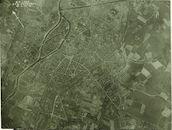 Luchtfoto van het centrum van Kortrijk 1917