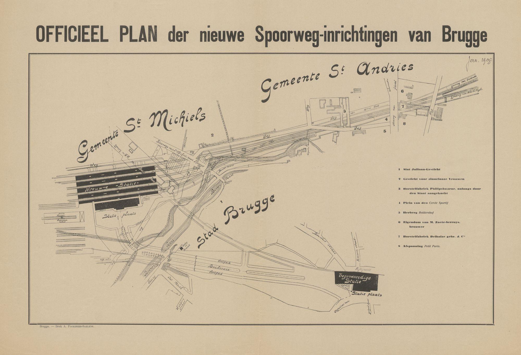 Westflandrica - Brugge, nieuwe spoorwegen
