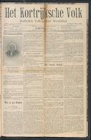 Het Kortrijksche Volk 1910-03-06 p1