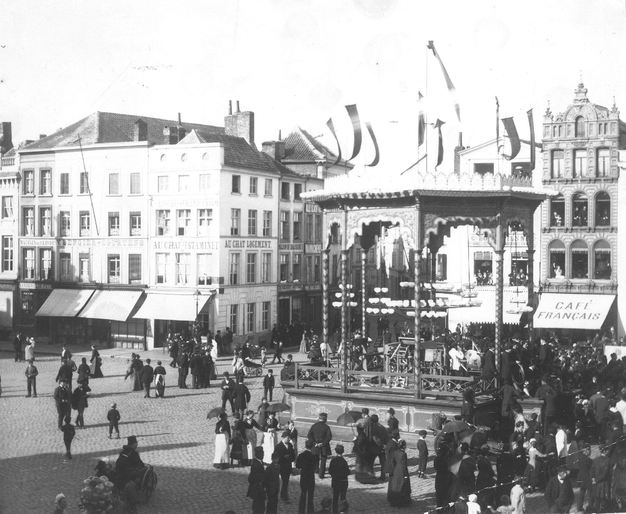 Turnfeesten op de Grote Markt