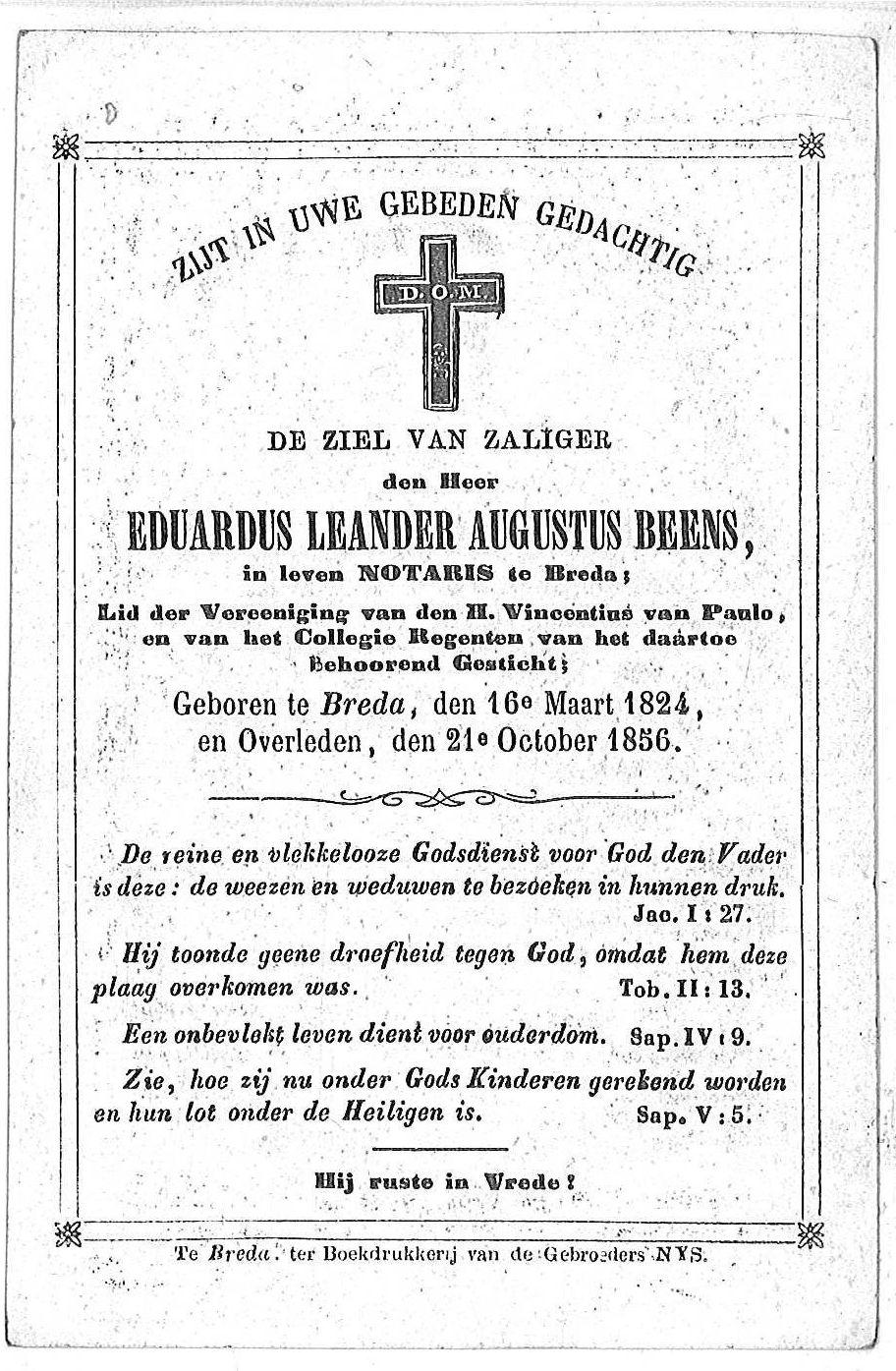 Eduardus Leander Augustus Beens