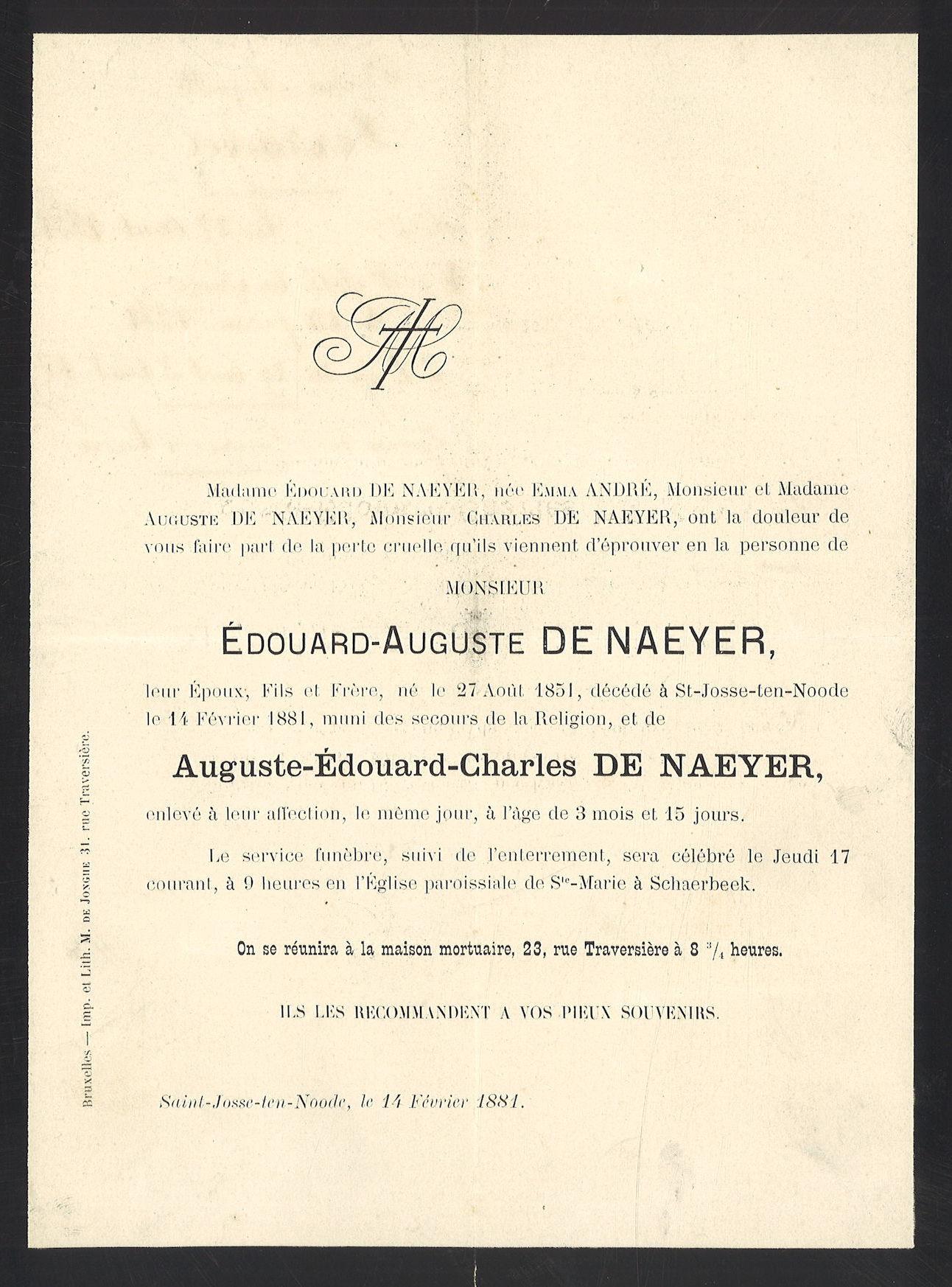 Edouard-Auguste De Nayer