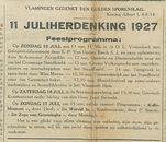 11 JULIHERDENKING 1927