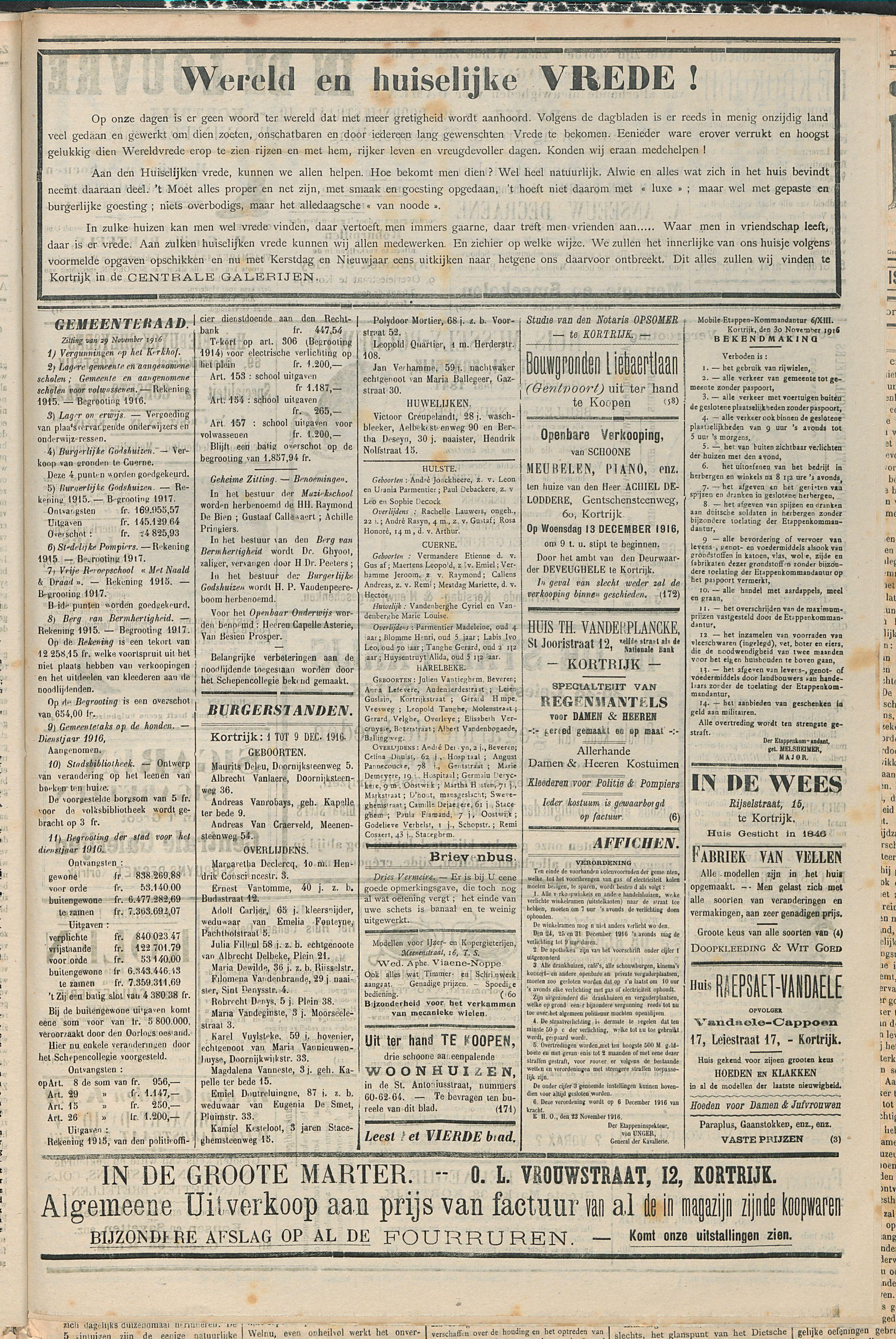 Gazette van Kortrijk 1916-12-09 p3