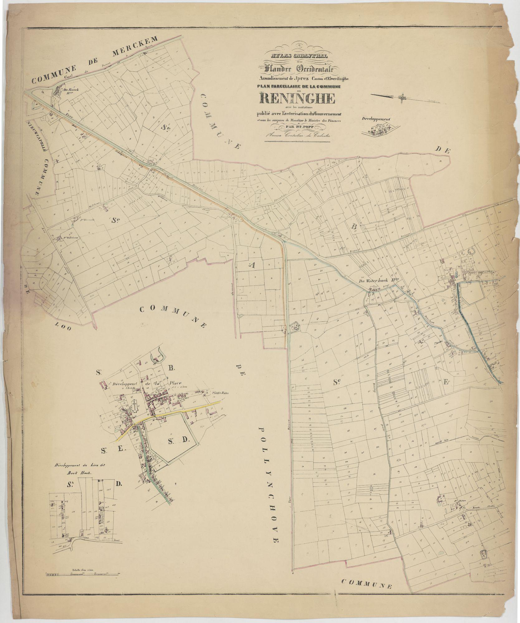 Westflandrica - Poppkaart van de gemeente Reninge (1)