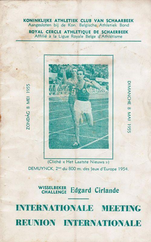 Programma atletiekmeeting 1955