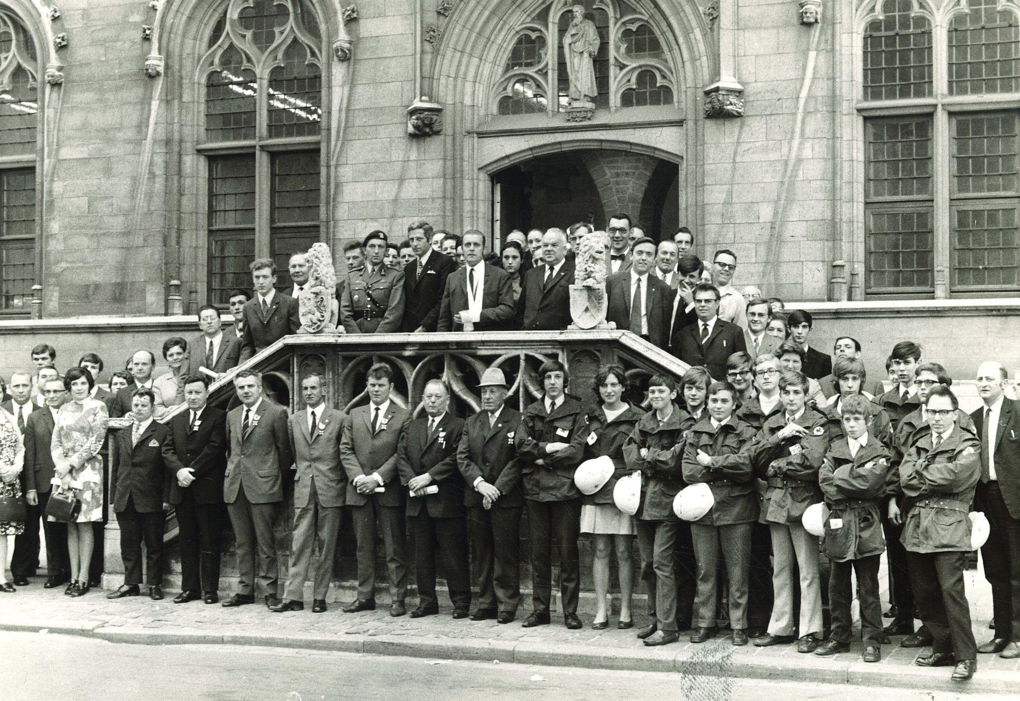 Huldiging bloedgevers 1971