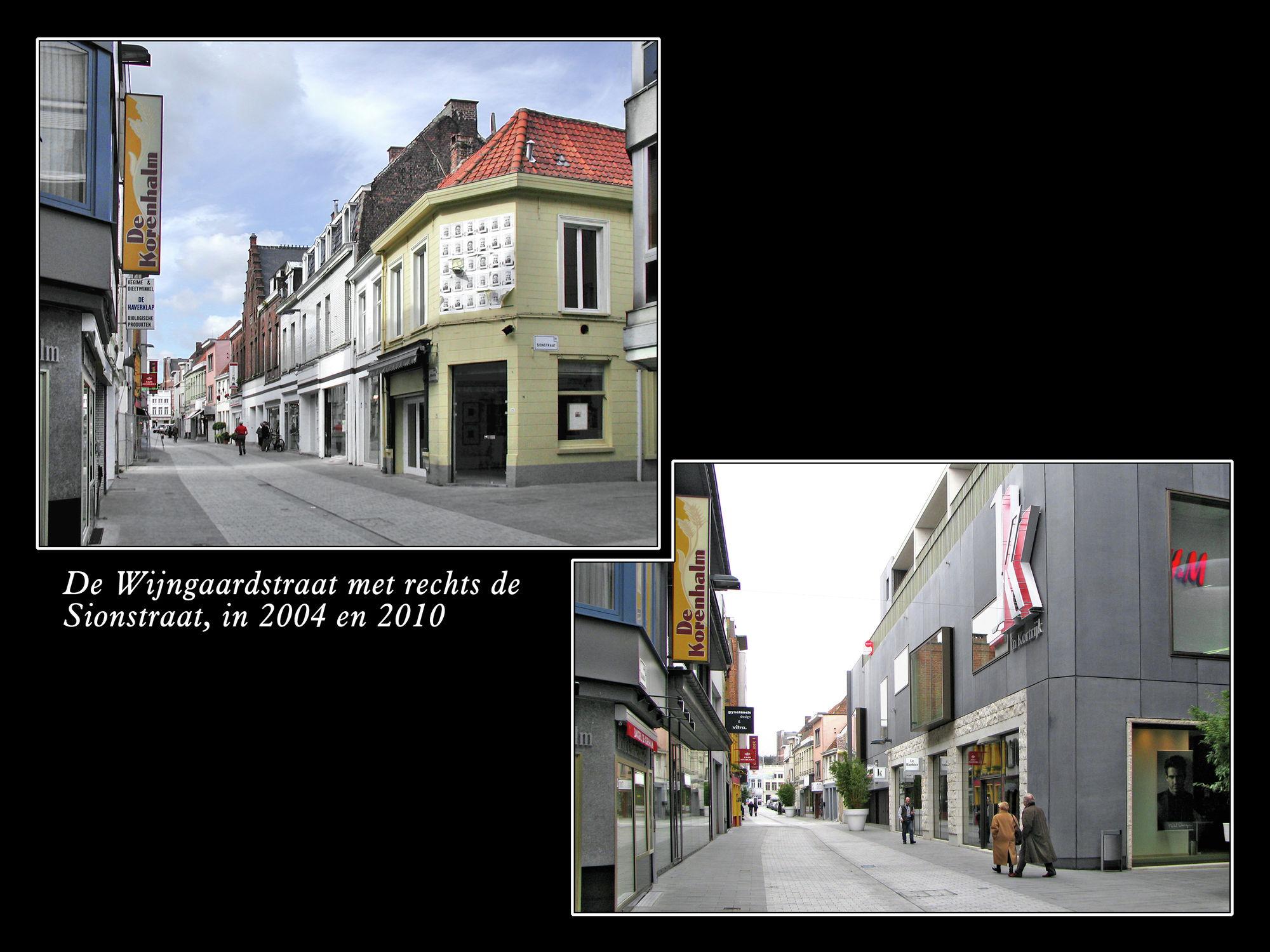 Wijngaardstraat en Sionstraat.