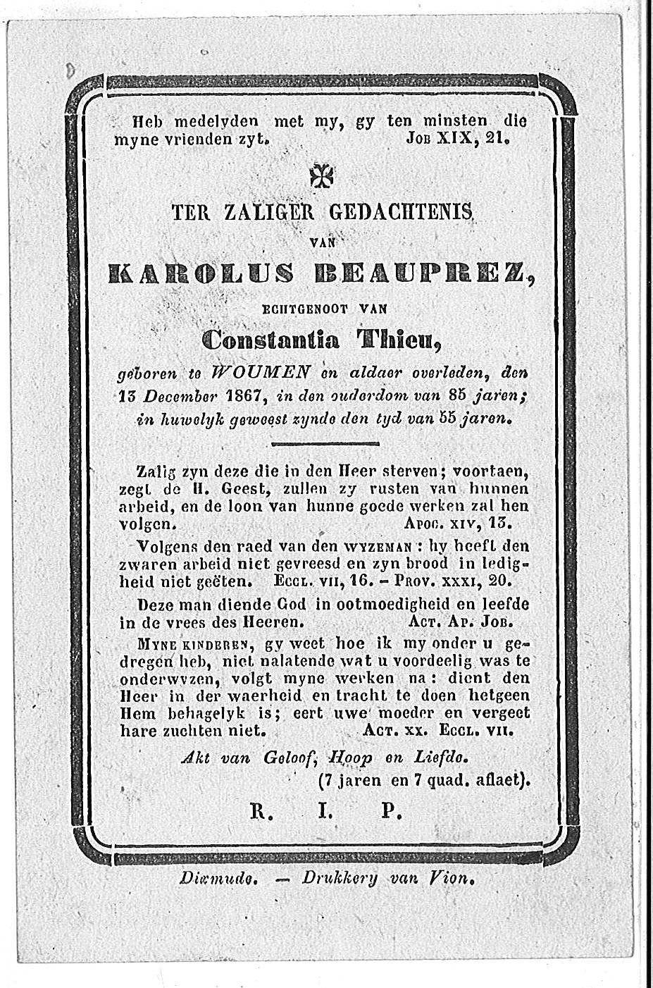 Karolus Beauprez