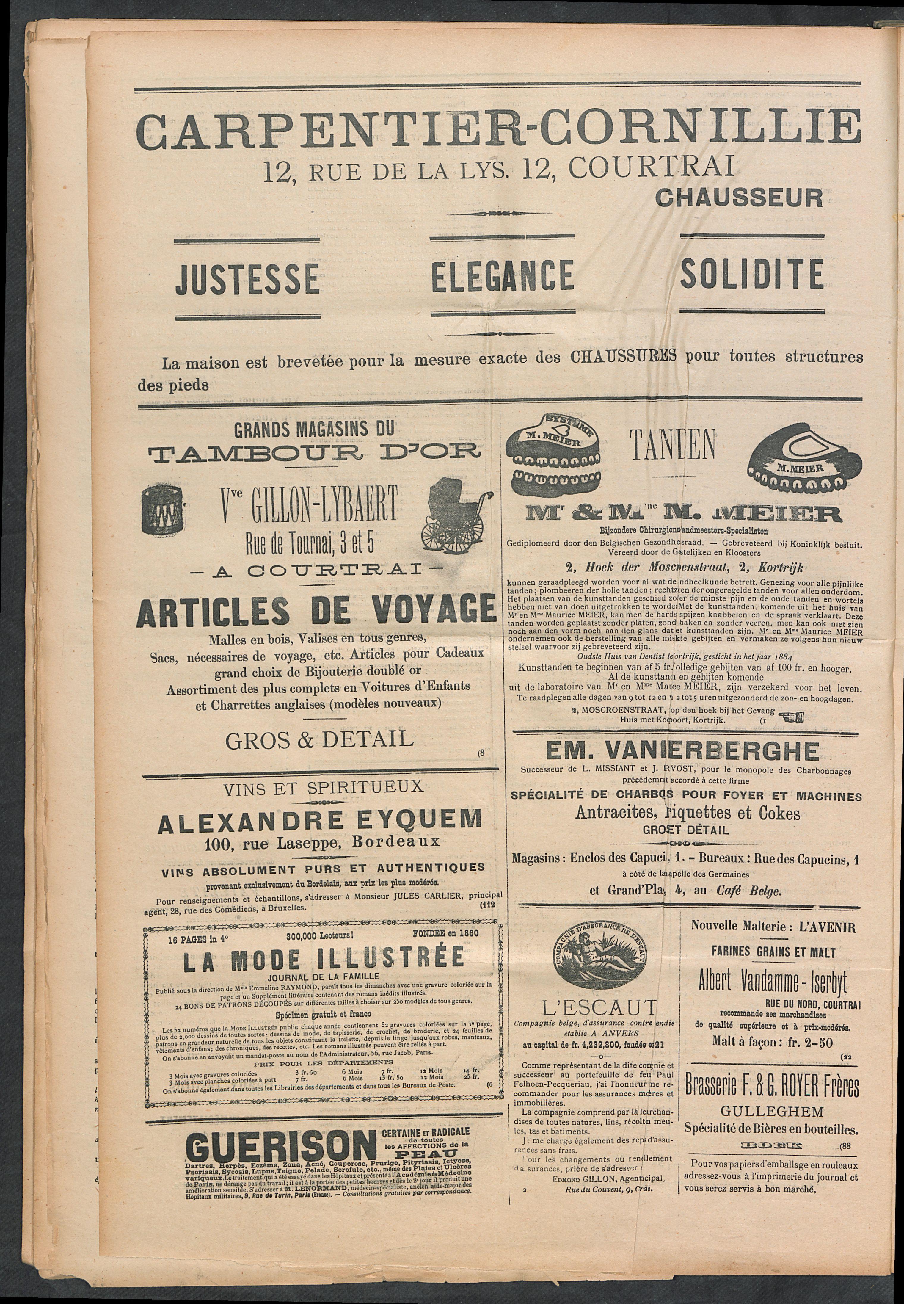 L'echo De Courtrai 1899-03-19 p4