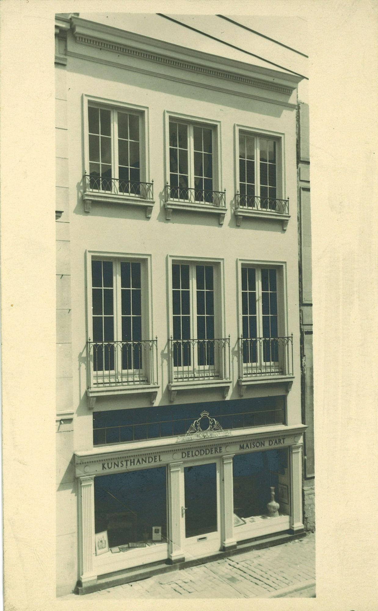 Gevel van een woning in de Budastraat